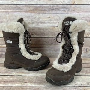 The North Face Nuptse Goose Down Fur Snow Boots